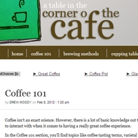 Corner of the Cafe Website Review